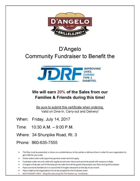 JDRF Fundraiser-dangelo